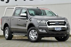 2017 Ford Ranger PX MkII XLT Double Cab Grey 6 Speed Sports Automatic Utility Dandenong Greater Dandenong Preview