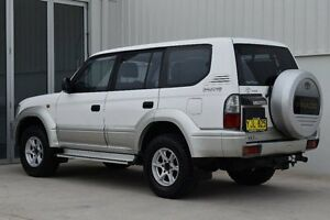 2002 Toyota Landcruiser Prado VZJ95R GXL White 4 Speed Automatic Wagon Rutherford Maitland Area Preview