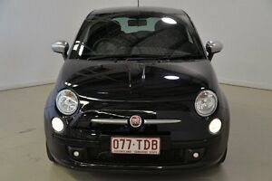 2012 Fiat 500 Series 1 Dualogic Black 5 Speed Sports Automatic Single Clutch Hatchback Mansfield Brisbane South East Preview