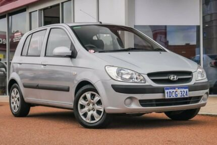2009 Hyundai Getz TB MY09 S Silver 4 Speed Automatic Hatchback Glendalough Stirling Area Preview