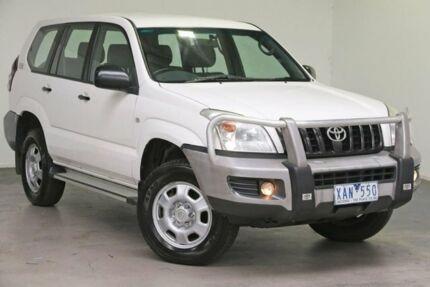 2008 Toyota Landcruiser Prado KDJ120R Standard White 6 Speed Manual Wagon South Melbourne Port Phillip Preview