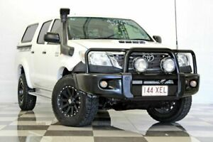 2012 Toyota Hilux KUN26R MY12 SR (4x4) White 4 Speed Automatic Dual Cab Pick-up Burleigh Heads Gold Coast South Preview