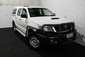 2014 Toyota Hilux KUN26R MY14 SR Double Cab Glacier 5 Speed Manual Utility Glenorchy Glenorchy Area Preview