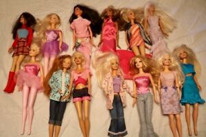 13 Assorted at Work & Play Barbies