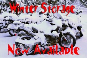 Winter Motorcycle Storage!  If you're cold, they're cold!