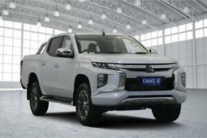 2018 Mitsubishi Triton MR MY19 GLS Double Cab White Diamond 6 Speed Sports Automatic Utility