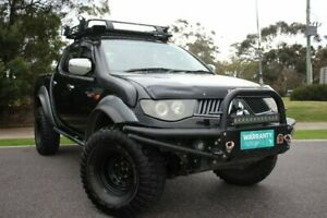 2008 Mitsubishi Triton ML MY08 GLX-R Double Cab Black 5 Speed Manual Utility Officer Cardinia Area Preview