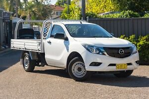 2015 Mazda BT-50 UR0YD1 XT 4x2 White 6 Speed Manual Cab Chassis Greenacre Bankstown Area Preview
