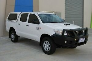 2012 Toyota Hilux KUN26R MY12 Workmate Double Cab White 4 Speed Automatic Utility Kenwick Gosnells Area Preview