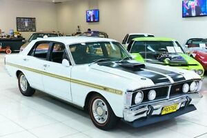 1972 Ford Falcon XY GT White 3 Speed Automatic Sedan Carss Park Kogarah Area Preview