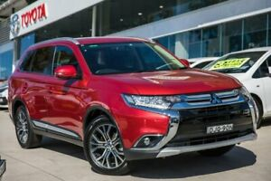 2016 Mitsubishi Outlander ZK MY16 LS 4WD Red 6 Speed Constant Variable Wagon Castle Hill The Hills District Preview