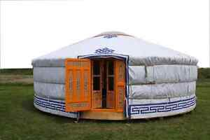 YOGA IN A YURT !?!