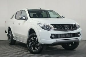 2018 Mitsubishi Triton MQ MY18 Exceed Double Cab White 5 Speed Sports Automatic Utility Wayville Unley Area Preview