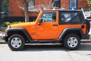 2013 Jeep Wrangler Soft Top Convertible, 4WD, 2DR SPORT