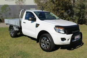 2012 Ford Ranger PX XL 4x2 Hi-Rider White 6 Speed Sports Automatic Cab Chassis Ormeau Gold Coast North Preview
