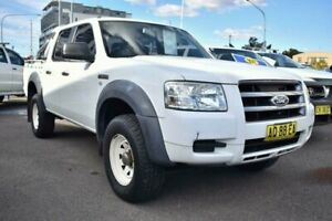2007 Ford Ranger PJ XL Crew Cab 4x2 Hi-Rider White 5 Speed Manual Utility Liverpool Liverpool Area Preview