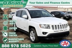2017 Jeep Compass High Altitude Edition w/Mfg Warranty, Leather,