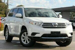 2012 Toyota Kluger White Sports Automatic Wagon