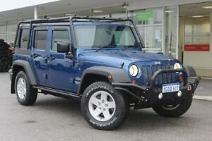 2010 Jeep Wrangler JK MY2010 Unlimited Sport Blue 6 Speed Manual Softtop Osborne Park Stirling Area Preview