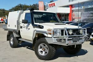 2008 Toyota Landcruiser VDJ76R Workmate (4x4) White 5 Speed Manual Wagon Gosford Gosford Area Preview