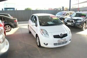 2008 Toyota Yaris NCP90R Rush White 4 Speed Automatic Hatchback Mitchell Gungahlin Area Preview