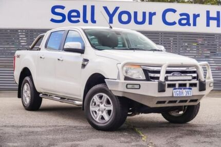 2013 Ford Ranger PX XLT Double Cab White 6 Speed Sports Automatic Utility Maddington Gosnells Area Preview