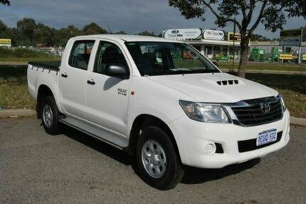 2013 Toyota Hilux KUN26R MY14 SR Double Cab White 5 Speed Automatic Utility Kenwick Gosnells Area Preview