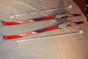 Loipe Cross Country Ski set Women's 190 cm waxless skis US 9 Tec