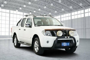 2011 Nissan Navara D40 MY11 ST-X 550 White 7 Speed Sports Automatic Utility Victoria Park Victoria Park Area Preview