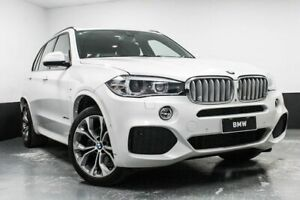 2014 BMW X5 F15 xDrive40d Mineral White 8 Speed Sports Automatic Wagon Hamilton East Newcastle Area Preview