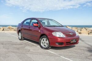 2005 Toyota Corolla ZZE122R 5Y Ascent Red 4 Speed Automatic Sedan