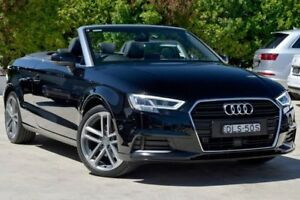 2016 Audi A3 8V MY17 S tronic Black 7 Speed Sports Automatic Dual Clutch Cabriolet