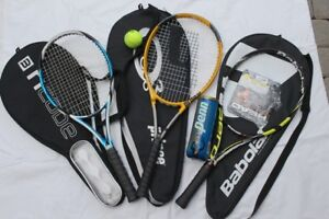 Tennis racket 2 Senior Prince Wilson racquets 1 junior Babolat r