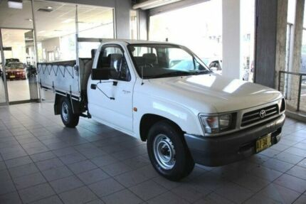 1997 Toyota Hilux RZN149R White 5 Speed Manual Cab Chassis Thornleigh Hornsby Area Preview