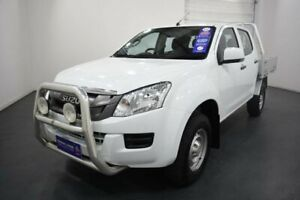 2016 Isuzu D-MAX TF MY15.5 SX (4x4) Splash White 5 Speed Automatic Crew Cab Chassis