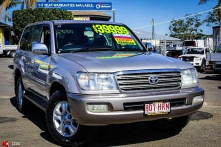 2004 Toyota Landcruiser HDJ100R Sahara Silver 5 Speed Automatic Wagon Archerfield Brisbane South West Preview