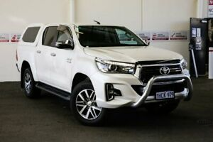 2019 Toyota Hilux GUN126R SR5 Double Cab Crystal Pearl 6 Speed Sports Automatic Utility Myaree Melville Area Preview