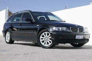 2004 BMW 320i E46 MY2004 Touring Steptronic Black Sapphire 5 Speed Automatic Wagon Wangara Wanneroo Area Preview