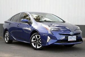 2017 Toyota Prius ZVW50R I-Tech Blue 1 Speed Constant Variable Liftback Hybrid Oakleigh Monash Area Preview