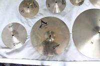 zildjian and sabian cymbals and hi hat