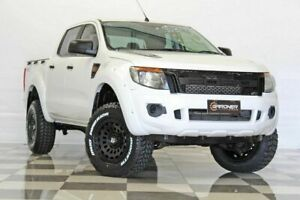 2013 Ford Ranger PX XL 2.2 (4x4) White 6 Speed Automatic Crew Cab Utility Burleigh Heads Gold Coast South Preview