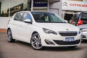 2017 Peugeot 308 T9 MY17 Allure White 6 Speed Sports Automatic Hatchback Victoria Park Victoria Park Area Preview