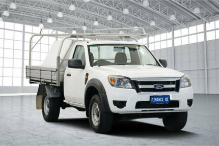 2010 Ford Ranger PK XL Cool White 5 Speed Manual Cab Chassis Victoria Park Victoria Park Area Preview