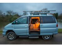 Mitsubishi Delica Camper. Great alternative to VW T5. Chunky 4WD with brand new conversion.
