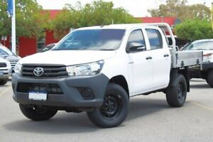 2016 Toyota Hilux GUN125R Workmate Double Cab White 6 Speed Manual Utility Midland Swan Area Preview