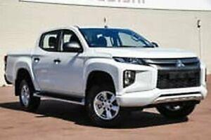 2018 Mitsubishi Triton MR MY19 GLX+ Double Cab White 6 Speed Manual Utility