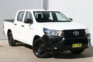 2016 Toyota Hilux TGN121R Workmate Double Cab 4x2 White 6 Speed Sports Automatic Utility Liverpool Liverpool Area Preview