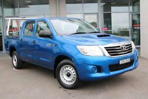 2013 Toyota Hilux KUN16R MY12 SR Double Cab 4x2 Blue 5 Speed Manual Utility