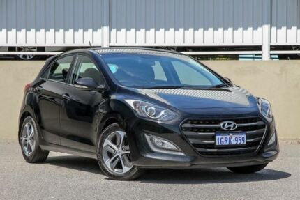 2015 Hyundai i30 GD3 Series 2 Active X Black 6 Speed Automatic Hatchback Cannington Canning Area Preview