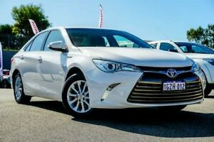 2015 Toyota Camry AVV50R Hybrid H White Continuous Variable Sedan Wangara Wanneroo Area Preview